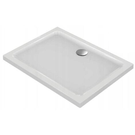 Ideal Standard Idealsmart Receveur Rectangulaire extra-plat antidérapant, à poser 100x80cm, Blanc (R1554YK)