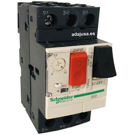 Disyuntor guardamotor 6 a 10 A tipo GV2ME14 - Schneider