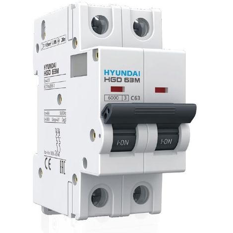Magnetotérmico 2 polos 63A (2x63A) - Hyundai Electric