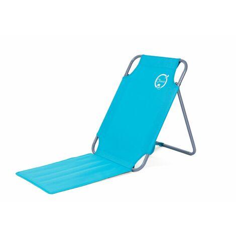 Chaise de plage Bleu turquoise - O'Beach - Dimensions : 45 x 163 x 44 cm