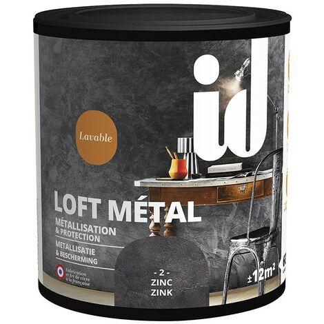 Finition ZINC LOFT METAL Metallisation & Protection 600ml - ID Paris