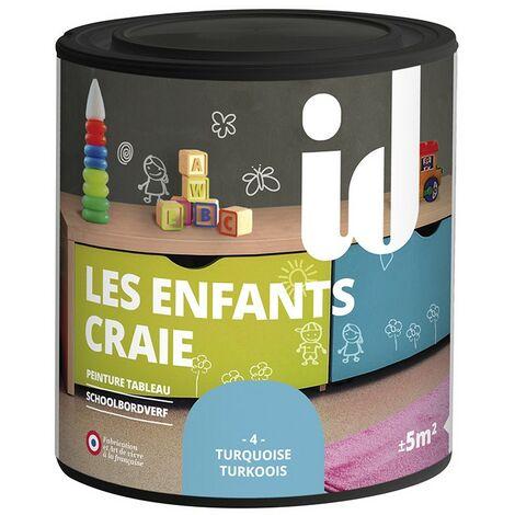 Peinture LES ENFANTS CRAIE TURQUOISE 500ml- ID Paris
