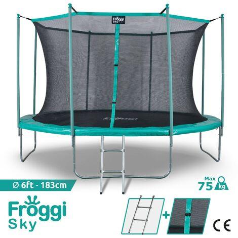 Trampoline d'extérieur FROGGI SKY - 183cm