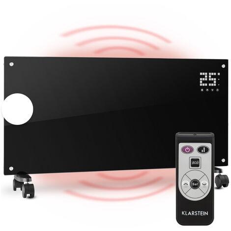 Klarstein Bornholm Konvektions-Heizgerät | 2 Heizstufen: 1000 / 2000 W | LED-Display | Timer | bis 40 m² | Standgerät / Wandgerät