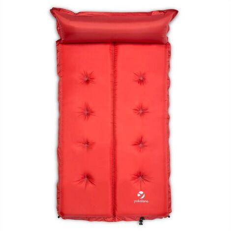 Yukatana Goodbreak 10 Sleeping Mattress Double Airbed 10cm Thick Pillow Red