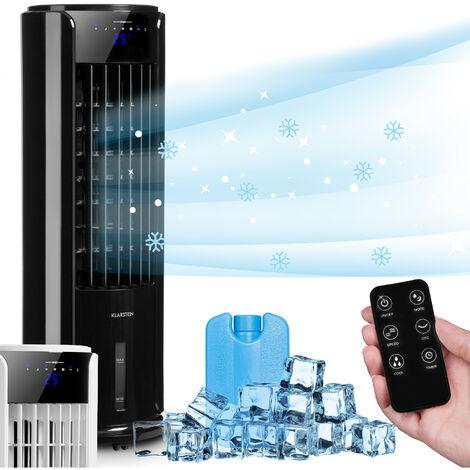 Klarstein Skyscraper Horizon 3-en-1 rafraîchisseur d'air ventilateur humificateur 60 W 486 m³/h réservoir 3,5 l noir