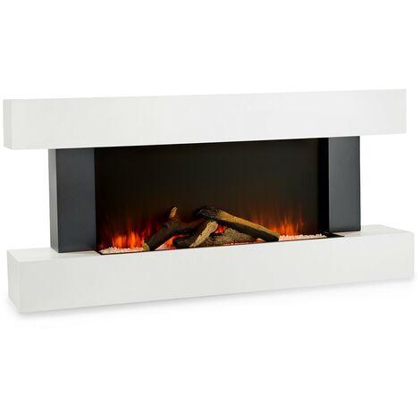 klarstein Studio Light & Fire 1 cheminée 1000/2000 W MDF télécommande blanche