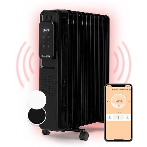 Thermaxx Elevate Smart radiateur à huile 2720W 7-35° C minuterie 24 h noir