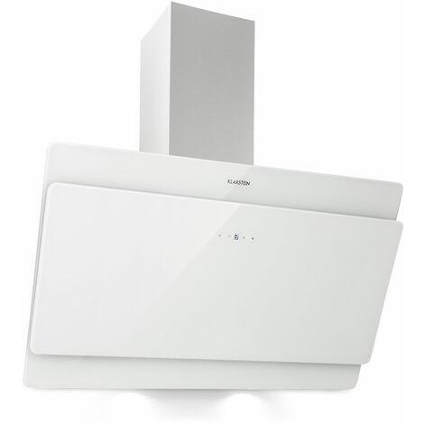 Aurica 90 Campana extractora 90 cm Salida: 610 m³/h LED Cristal táctil Blanco