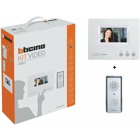 Kit Videocitofono Bticino 315311 Monofamiliare a Colori 4 Fili
