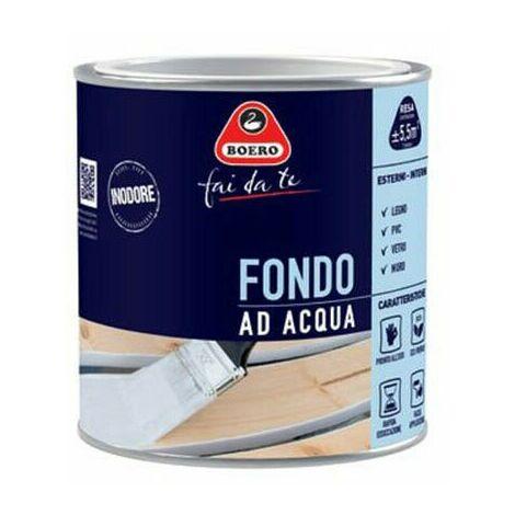 Fondo ad Acqua per Smalti Legno Pittura Acrilica Preparazione Bianco 732 Boero
