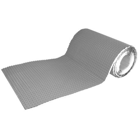 Sarei Haus- und Dachtechnik - Rivestimento adesivo per parete e camino, in alluminio, colore: grigio, 5 m