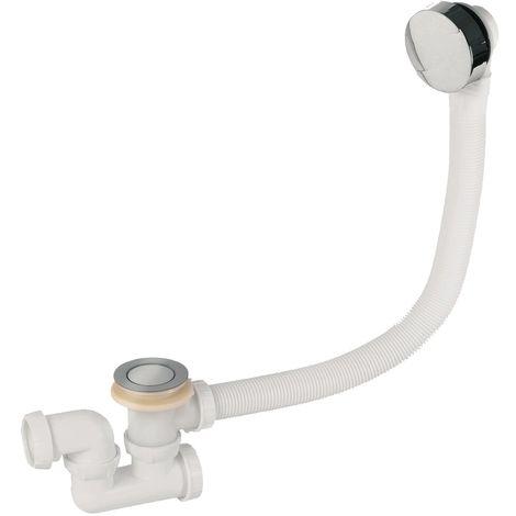 Wirquin SP5603 - Colonna di scarico per vasca da bagno a cavo con sifone, cromata