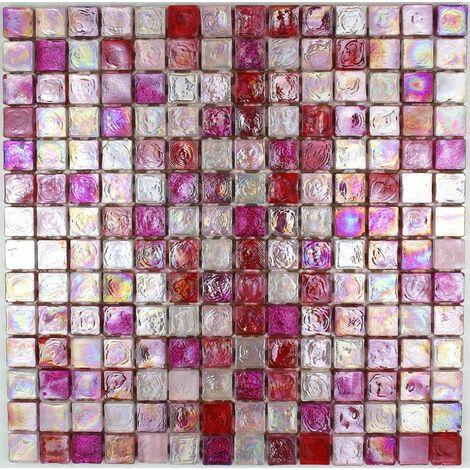 Mosaique pour mur et sol en verre Arezo Rose
