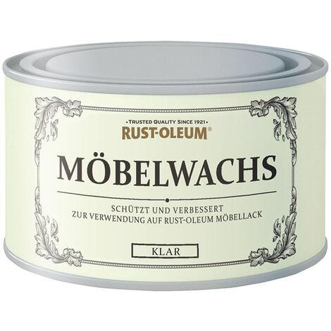 Rust Oleum Möbelwachs Klar Transparent aus natürlichen Wachsen 400ml