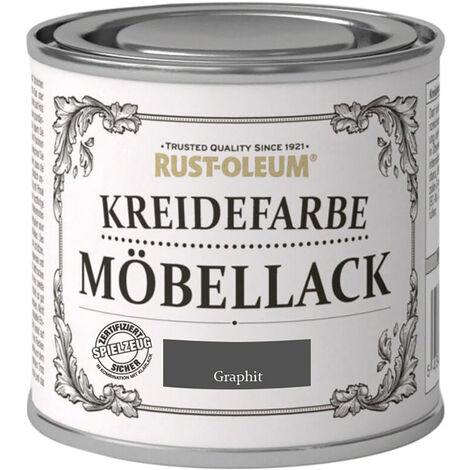 Rust Oleum Shabby Kreidefarbe Möbellack Graphit mattes Finish 125ml