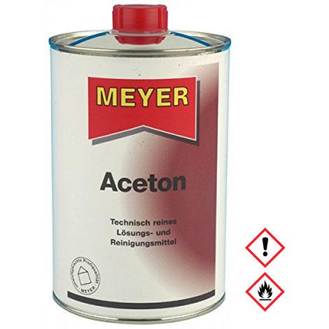 Meyer Aceton Dose zum lösen von Fett Öl und Lacken Reiniger 1000ml