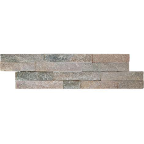 Parement mural en pierre naturelle fine épaisseur - beige - 13 pcs