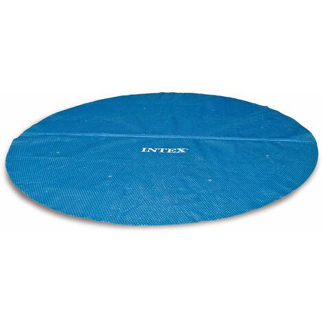 Bâche à bulles pour piscine Ø 4,57 m - Intex - Bleu