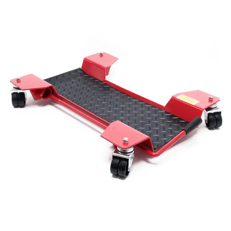 Motorcycle Dolly Park-and-move Stand Garage Parking Dolly Centre Stand 60x42x7.5cm max 250kg