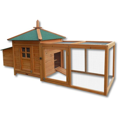 Chicken Coop Hen House Poultry - Chicken Run Rabbit Hutch