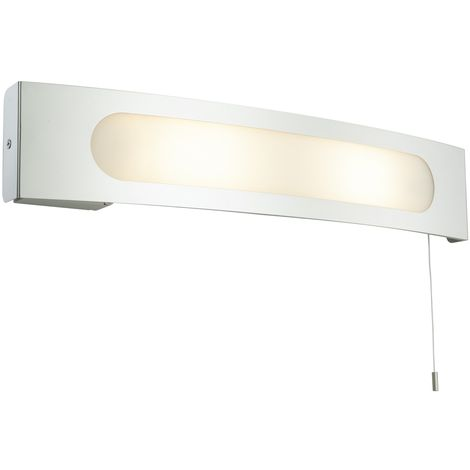 Chrome IP20 Bathroom Wall Shaver Light
