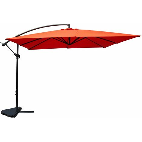 Parasol déporté toile carré Solenzara 3x3 mètres