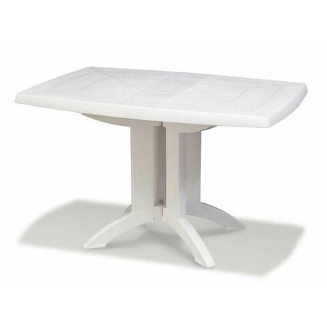 TABLE VEGA 118x77x72 cm coloris blanc - blanc