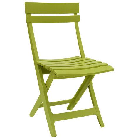 CHAISE MIAMI PLIANTE 42X50X80 coloris vert cactus - vert cactus