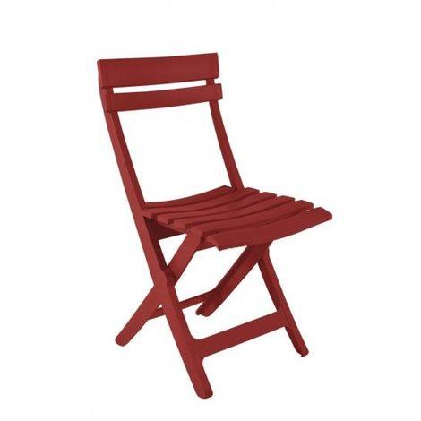 CHAISE MIAMI PLIANTE 42X50X80 coloris rouge bossa nova - rouge bossa nova