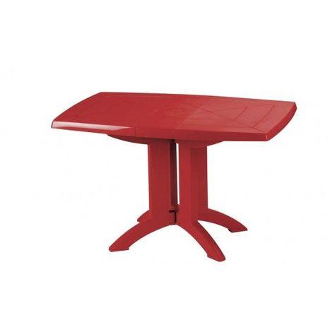 TABLE VEGA 118x77x72 cm coloris rouge bossa nova - vert tender