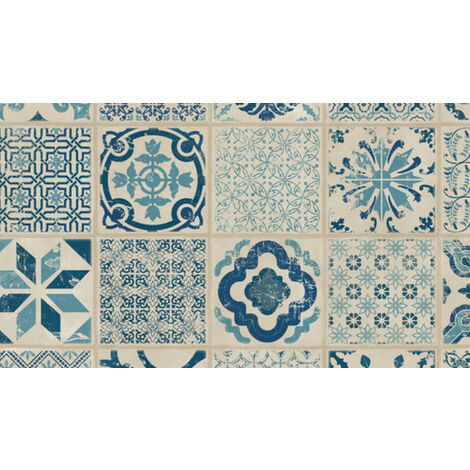Dalle de sol PVC clipsables - boite de 9 dalles sol vinyle imitation carreau de ciment - 1,67m² - Starfloor Click 30- retro indigo bleu - TARKETT