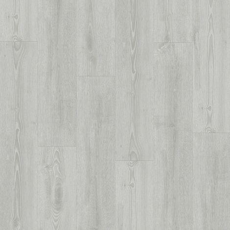 Lames de sol PVC clipsables - boite de 7 lames sol vinyle imitation parquet - 1,61 m² -Essentiel Click 30- chêne scandinave medium gris- TARKETT