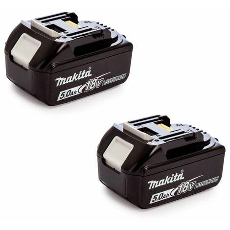 Lot de 2 batteries 18V Li-Ion 5,0Ah pour outil sans fil - MAKITA 197288-2