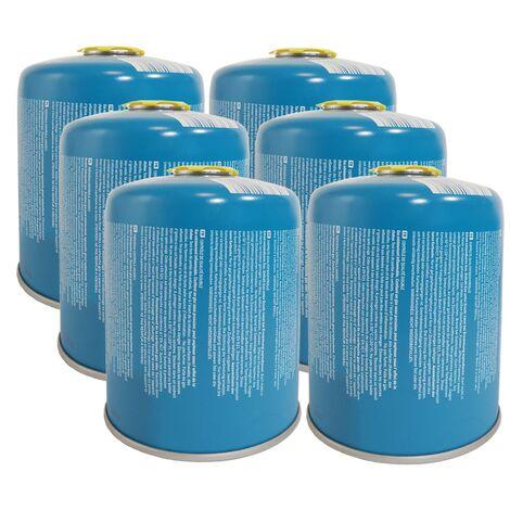 Cartouche gaz Butane 450g X 6 Camper Gaz Bouteille de gaz à vis Camping
