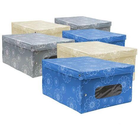 6 MAURY'S QUEEN SCATOLE BOX PER ARMADIO IN PVC 50 X 39 X 24 CM COLORI ASSORTITI