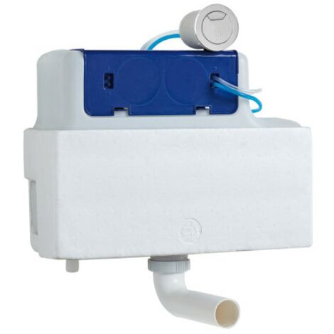Comfort Height Bottom Entry Pnuematic Concealed Dual Flush Cistern