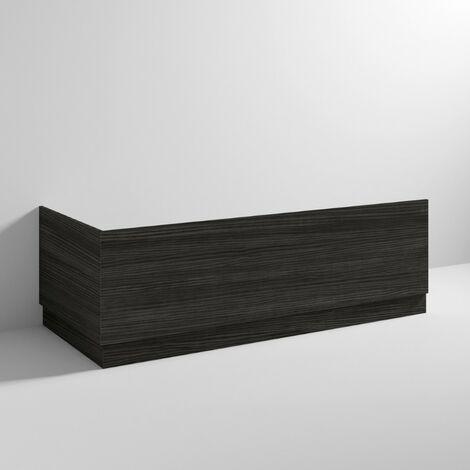Hacienda Black 1700mm Bath Front Panel & Plinth