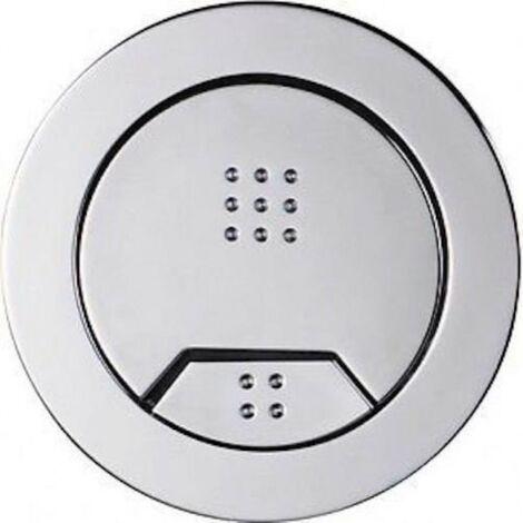 Wirquin Macdee Kara 72mm Pneumatic Chrome Dual Flush Push Button