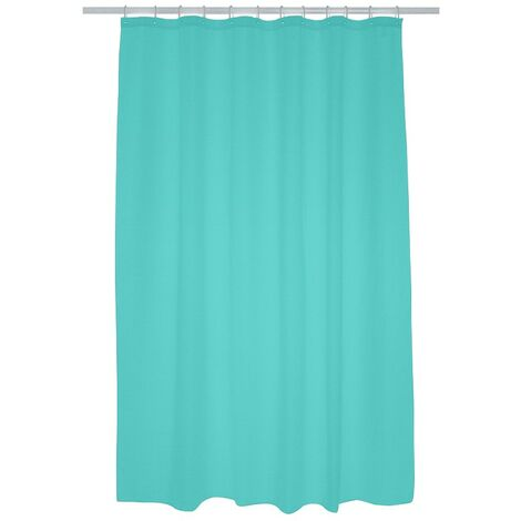 Plain Polyester Shower Curtain 1800mm x 2000mm - Blue