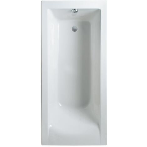 Cube Square 1700mm x 800mm Single Ended Bath - size 1700 x 800mm - color White