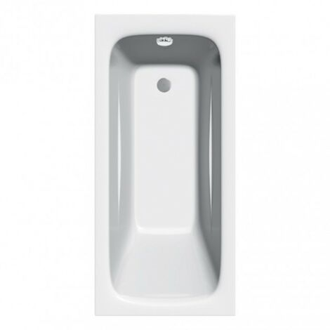 Diva 1675mm x 700mm Single Ended Bath - size 1675 x 700mm - color White