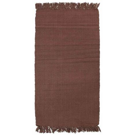 SIMPLY COTON - <p> Tapis 100% coton chocolat 60x120</p> - Marron