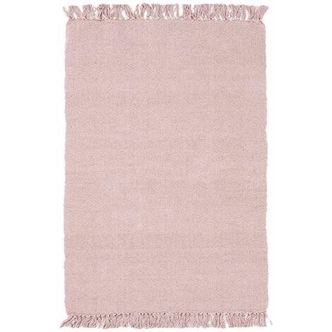 SIMPLY COTON - <p>Tapis 100% coton bois de rose 50x80</p> - Rose