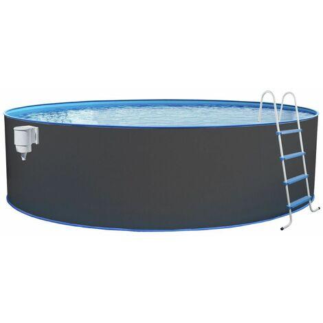 """Steinbach Stahlwand Swimming Pool Set """"Nuovo rund"""" anthrazit Ø 450 x 120 ohne Sandfilteranlage"""