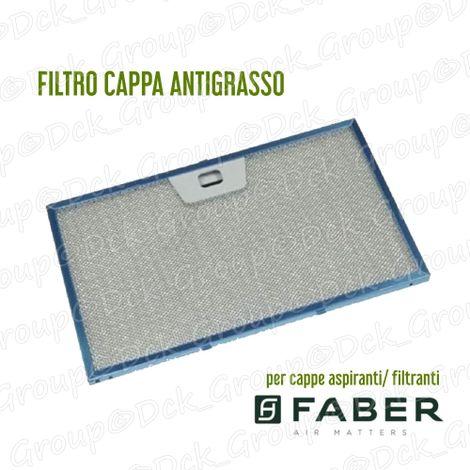 Filtro Cappa Alluminio Metallico Antigrasso mm 325 x 189 x 8 Faber 4268962 INCA SMART PLUS