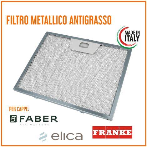Filtro Cappa Metallico Alluminio Antigrasso 235x189x8 mm FABER ARISTON ELICA TURBOAIR