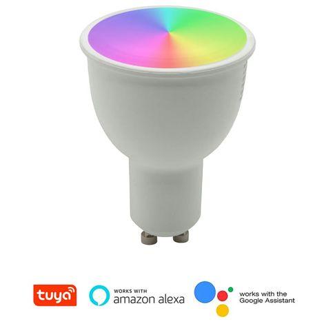 LAMPADINA LED GU10 RGB INTELLIGENTE WiFi SMART APP ALEXA GOOGLE HOME