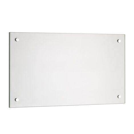 trempé transparent cuisine mur arrière rétroviseur carrelage miroir de protection murale tuile de cuisine verre transparent -