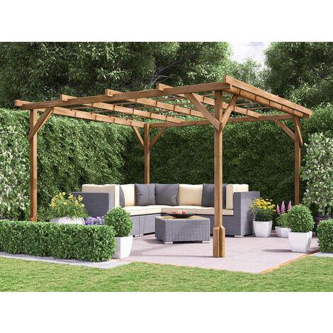 "Utopia Wooden Pergola Garden Plants Frame W3m x D3m (9' 10"" x 9' 10"")"
